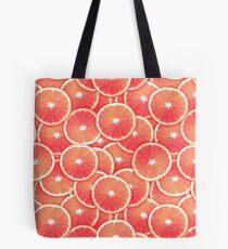 Rosa Grapefruit-Scheibe-Digital-Montage Tote Bag