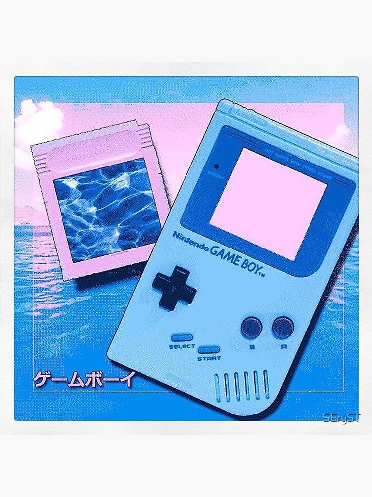 Game Boy Vaporwave Art Board Print By Seryst Redbubble
