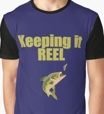 Funny Keeping It Reel - Fishing Angling Design  Graphic T-Shirt