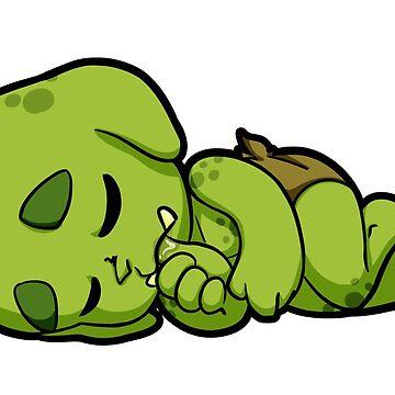 Baby Orcs - Nap Pillow by EmeraldDice