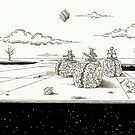 The directors game, the origin of space... by Sebastiaan Koenen