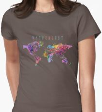 Wanderlust World Map Watercolor T-Shirt