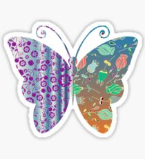 Butterflies and flowers Sticker