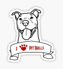 I Love Pit Bulls logo Sticker