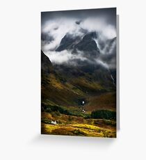 Blaven and malevolent weather. Isle of Skye, Scotland. Greeting Card