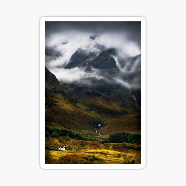 Blaven and Malevolent Weather Isle of Skye Scotland. Sticker