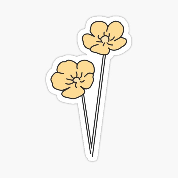 hippo campus buttercup  Sticker