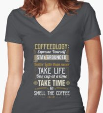 Coffeeology - Coffee Lovers Gifts Women's Fitted V-Neck T-Shirt