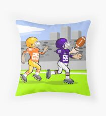 American football players running Throw Pillow