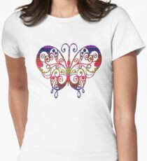 Colourful transparant butterfly T-Shirt