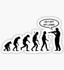 Get off my lawn (Gran Torino) Evolution - black Sticker