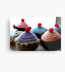 Knitted Cakes Metal Print