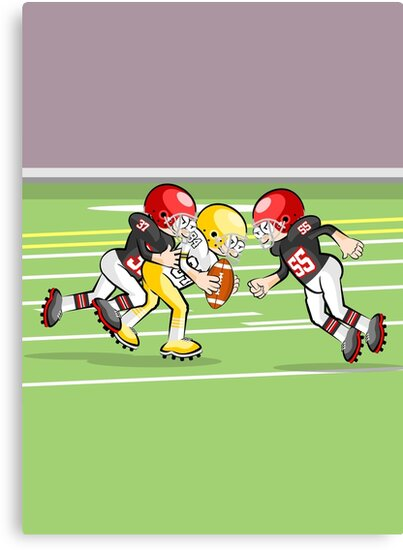 Sensational play of intrepid American football by MegaSitioDesign