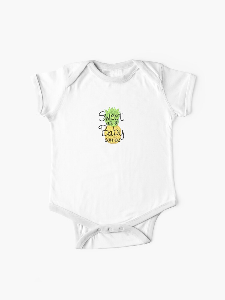Baby Onesies Watercolor Pineapple 100/% Cotton Baby Jumpsuit Cute Short Sleeve Bodysuit