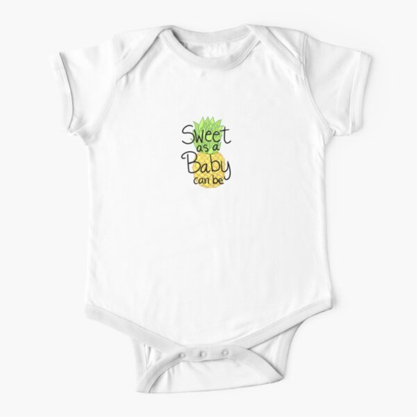 Cute and Sweet Baby Pineapple  Short Sleeve Baby One-Piece