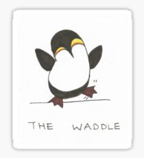 Penguin party: do the waddle Sticker