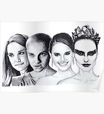 The Many Faces of Natalie Portman Poster