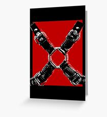 Red & Black Leather Harness Greeting Card