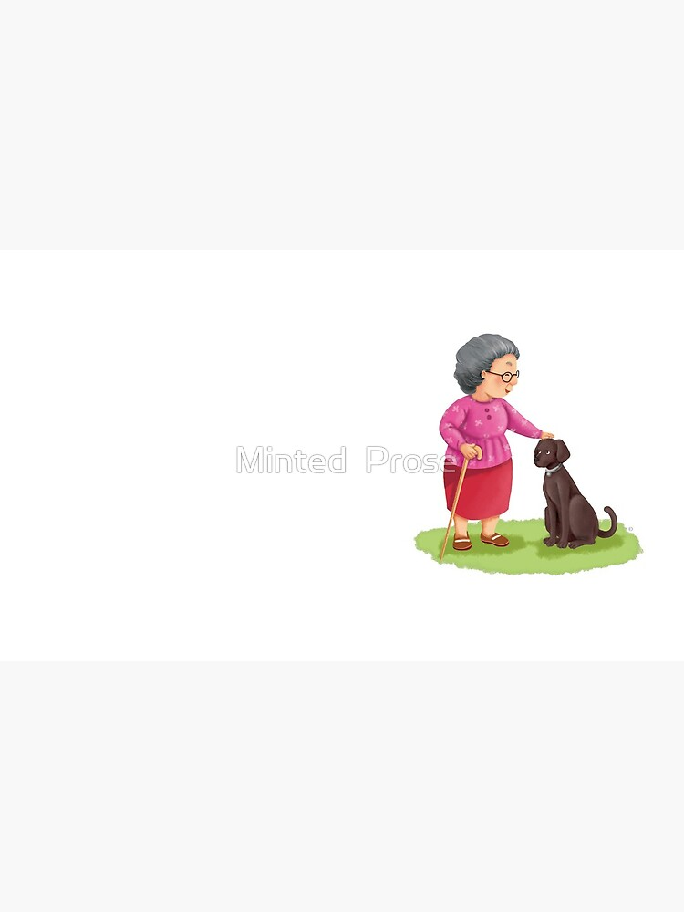Grandma and Her Chocolate Labrador by MintedProse