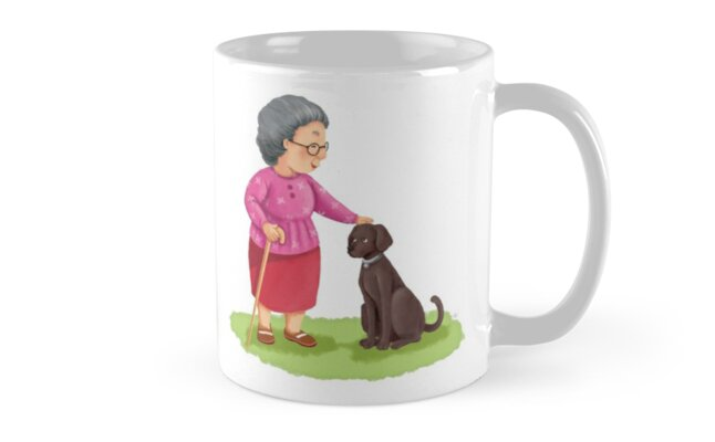 Grandma and Her Chocolate Labrador by Minted  Prose