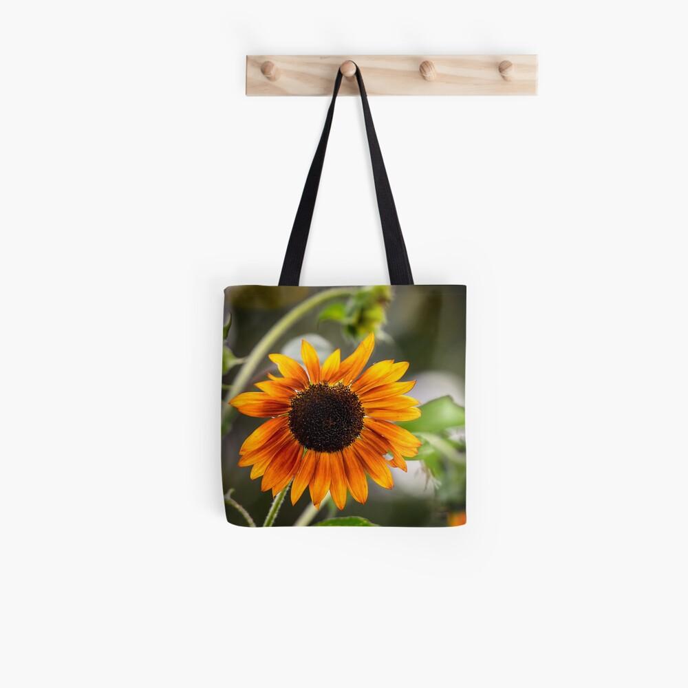 Orange Sonnenblume Stofftasche