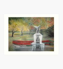 Central Park in  Fall  at the Bethesda  Fountain      ( My Paintings ) Art Print