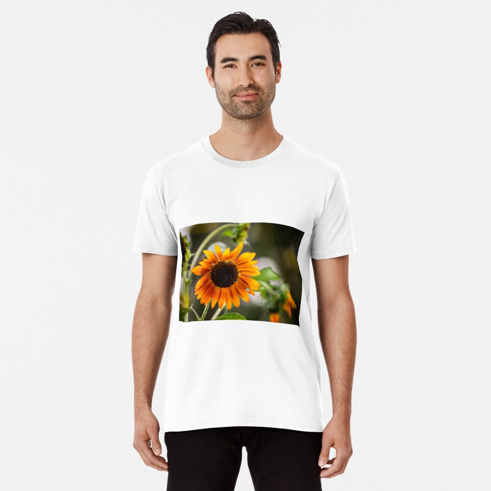 Orange Sonnenblume Premium T-Shirt