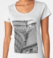 Galleria Umberto Naples Italy - Black & White Women's Premium T-Shirt