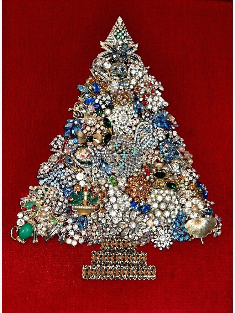 Jewelry Christmas Trees.Vintage Jewelry Christmas Tree Greeting Card
