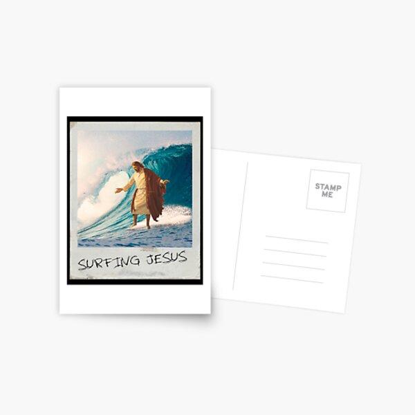 Surfing Jesus Postcard