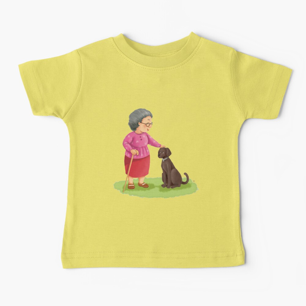 Grandma and Her Chocolate Labrador Baby T-Shirt