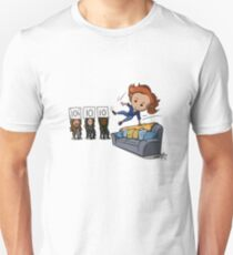 Nicole Haught: Lesbian Couch Vaulting Gold T-Shirt