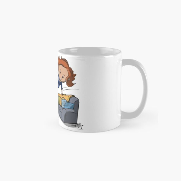 Nicole Haught: Lesbian Couch Vaulting Gold Classic Mug