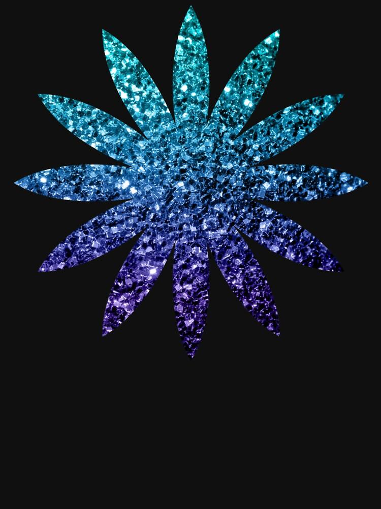 Wunderschönes Aqua Blue Ombre Glitter funkelt von PLdesign