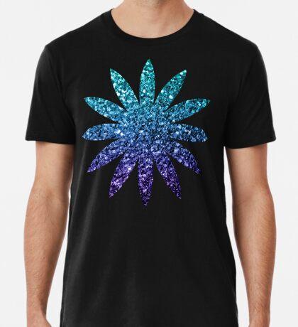 Beautiful Aqua blue Ombre glitter sparkles  Men's Premium T-Shirt