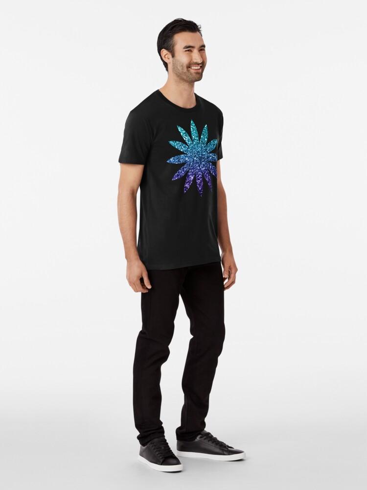 Alternative Ansicht von Wunderschönes Aqua Blue Ombre Glitter funkelt Premium T-Shirt