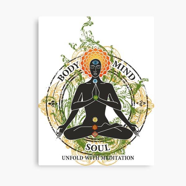 Yoga : Mind Body and Soul KUNDALINI Canvas Print