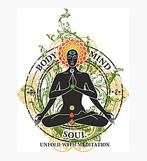 Yoga : Mind Body and Soul KUNDALINI Photographic Print