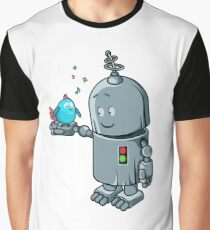 Story about the robot & a blue bird Graphic T-Shirt