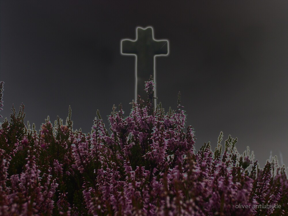 glowing cross  by oliver antwhistle