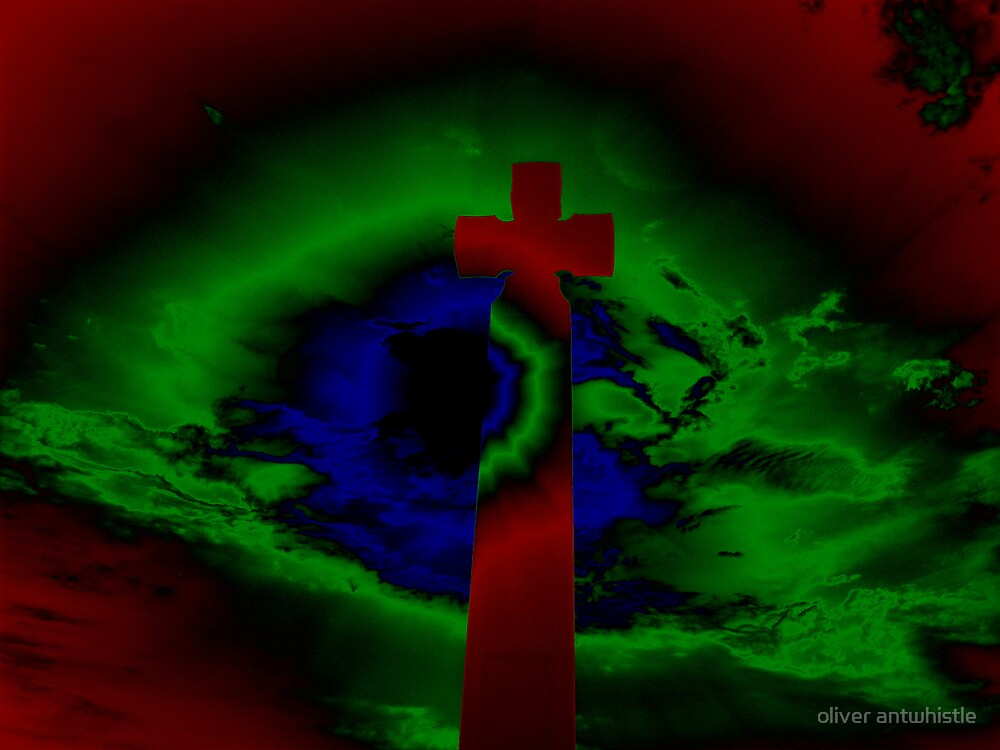 negative cross by oliver antwhistle