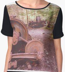 Rustic Inner coalmine workings. Women's Chiffon Top