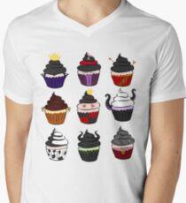 Villains cupcakes V-Neck T-Shirt