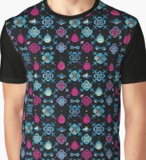 Ornaments from stencil of flowers  Graphic T-Shirt