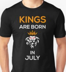 Kings are born in July Unisex T-Shirt