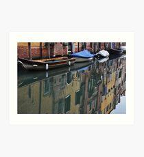 Reflection in Cannaregio, Venice Art Print