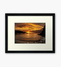 Sunrise from Squince Harbour Framed Print