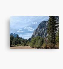 Granite Walled Valley Canvas Print