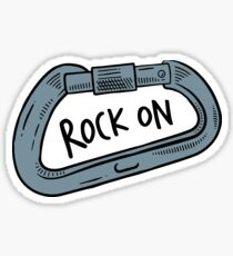 Rock On Carabiner Sticker