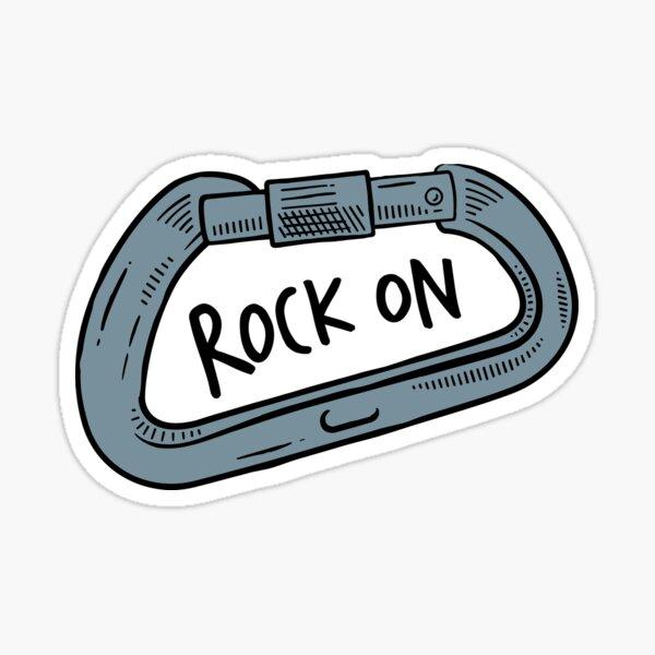 Rock On Carabiner Sticker